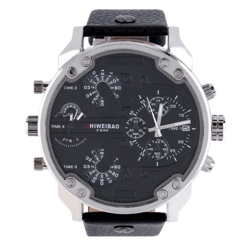 803ab5198fb Pánské hodinky s velkým ciferníkem 56 mm Černé